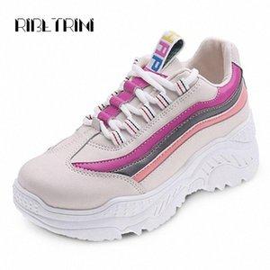 RIBETRINI Big Size 35 42 nuovi femminile della donna dei pattini della piattaforma delle scarpe da tennis di moda i colori misti a mosaico Flats Women appartamenti casuali 4eoo #