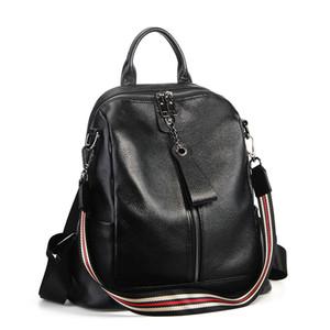 ABER Nesitu Highend Coffee Red Grey Black Genuine Leather Women's Backpack Female Girl Backpacks Lady Travel Bag Shoulder Bags #M007