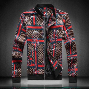 2020Fashion Designer Jacket Windbreaker Long Sleeve Mens Jackets Hoodie Clothing Zipper With Animal Letter Pattern Plus Size Clothes M-4XL