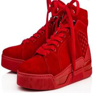 Erkekler için lüks Loubikick Düz Kırmızı Alt Sneaker Ayakkabı, Kadınlar Dikenler Açık Partisi Moda Casual Yürüyüş Ayakkabı VK6