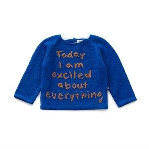 New children's autumn base shirt boysand girlsalphabet color matching long Shirt sweatersleeve sweater 2020 long sleeve sweater