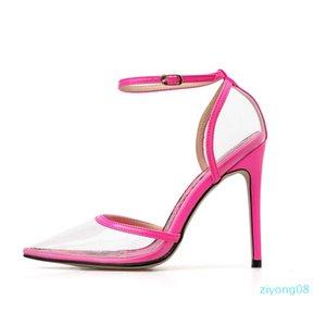 avec la boîte Fluor talons vert aiguilles pointues imprimé rose pompes femmes design de luxe mode chaussures taille 35 à 41 Z08