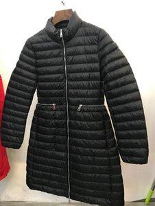 Branded Winter Down Jacket Women long Warm Coat Black Real Raccoon Fur Hooded Female 90% White Duck Down Coats