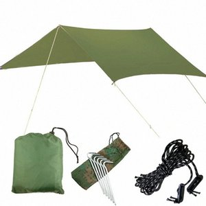 Outdoor Oversized Canopy Sunshade Praia Camping Tent Waterproof Proof pano Umidade Pad Triângulo Canopy Waterproof Shelter Sun shelte 8ZvS #