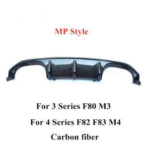 1 piece MP Style Carbon fiber Car rear lip For B-M-W 3 4 Series F80 M3 F82 F83 M4 Car accessories Bumper diffuser