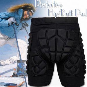 Прочный черный На открытом воздухе Buttock Защита Skating Hip протекторы Защитные шорты Колено Лыжные гонки колодки Hip Impact Protection Jb1T #