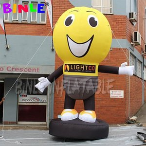 Custom advertising inflatable light bulb,cartoon mascot Giant Inflatable LED Light Bulb Balloon printing for free