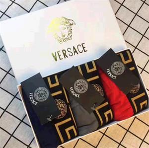 Mutandine Maschio mutande Versace Mens Underware uomini del pugile cotone intimo maschile Pugili respirabile senza giunte sottile retrò da uomo