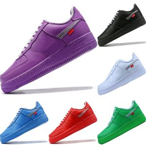 2020 AF1 Vintage Leather Low-Top Skateboard Shoe Originals AF1 Buffer Rubber Built_in Zoom Air Cushioning Basketball Shoe