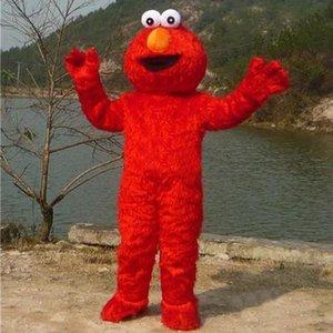 Adulto adultos elmo vendas traje mascote de alta qualidade pêlo longo Elmo Mascot Costume
