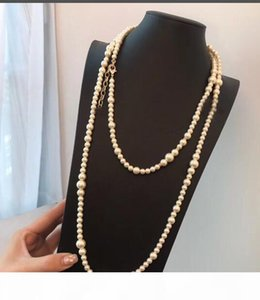 New! Classic style long necklace High quality fashion designer bead necklace for women Pendant necklace for wedding jewelry