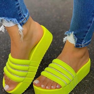 Women's Slippers Fashion Slippers Women Thick Platforms Shoes Flip Flops Ladies Slides Rome Beach Shoes Zapatos Mujer