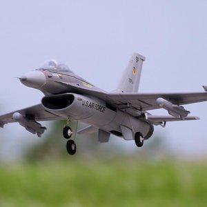 FMS 64mm F16 F16 V2 vigilantes canalizado Ventilador FED Jet cinzento EPO Escala RC do avião de combate Modelo passatempo plano Aeronave Avion PNP 66