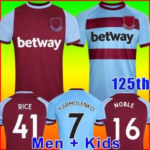 20 21 BATI futbol forması HAM 2020 2021 Birleşik Noble formaları ANDERSON PİRİNÇ SOYLU formalarını erkekler + çocuklar 125 Yıldönümü 125 yıl kiti
