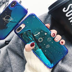Univers Planète Phone pour iPhone 11 Pro Max XR XS Max X 8 7 6 6S plus Retro Blu-Ray souple IMD Phone Housse cas