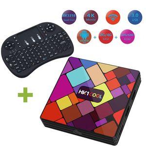 Android 9.0 TV Box Hk1 Soğuk 4k akıllı tv Set Top Box Rockchip RK3318 4GB DDR3 64GB 2.4G 5G Çift WiFi