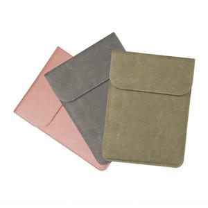 Smerigliato PU copertura del computer portatile tasca interna Notebook orizzontale e verticale macbook calotta di protezione ultrasottile sacchetto protettivo del computer