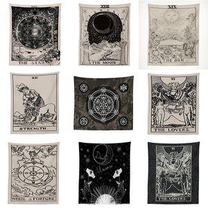 India Stregoneria Tarocchi Tapestry Wall Hanging Sun Moon ARAZZO tappeto Tapiz Witchcraft Panno
