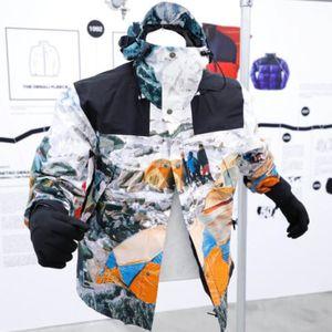 20FW Joint Montanha Snow Camp Jacket Bordado Letter Logo Brasão Outwear Moda High Street Casal Mulheres Mens Jackets HFXHJK110