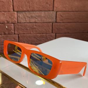 2020 Hottest Euro-Am fashionshow GG0516S design de mode unisexe Lunettes de soleil UV400 intelligente rectangulaire étroite Macaron Planche cas de Fullset monture complète