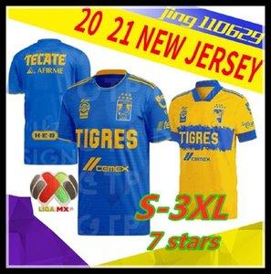 남성 2,020 2,021 타이거스 UANL의 축구 유니폼 (20) (21) 멕시코 클럽 노란색 일곱 별 GIGNAC 바 가스 SOSA 멀리 파란색 홈 축구 셔츠