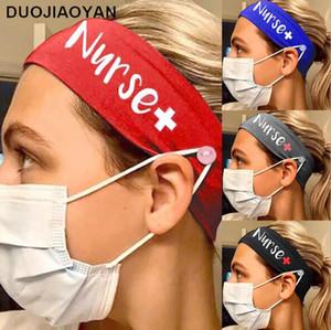 Élastique lait soie infirmière bouton Yoga Bandeaux Protection Fitness Casual multi-fonctionnelle Masque bouche visage extérieur Sport Hairband Foulard