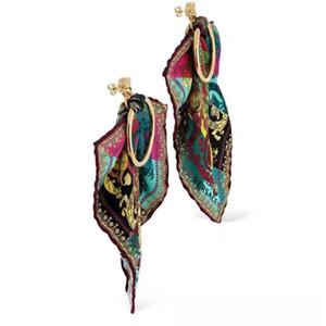 calidad superior de la venta caliente del paño del pendiente de gota y el metal del perno prisionero de la joyería de las mujeres del regalo del envío libre PS5730