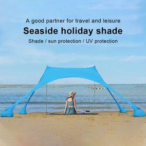 Portátil Pergola Windproof Praia guarda-sol e Gazebo perfeito Canopy Sun Sombra Outdoor Shelter Tent colorido Tent Tarp Durable