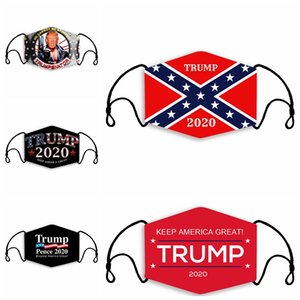 Trump Face Mask Make America Great Again Маски Mississippi State Flag Маска Анти пыль Моющийся Дизайнерская Маски с 2pcs Фильтры RRA3360