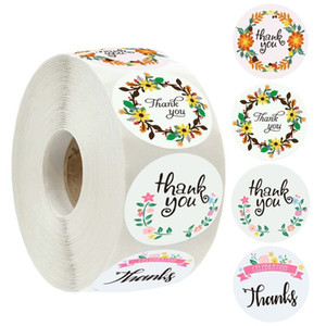 Mini Flower Label Thank You Stickers Self Adhesive Portable Car Sticker 4 Styles Stationery Decoration Supplies HotSale 1 99rla D2