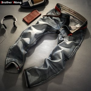 Brother Wang Brand men's clothing 2020 New 's fashion Retro Slim small straight Jeans for casual Men trousers CX200727