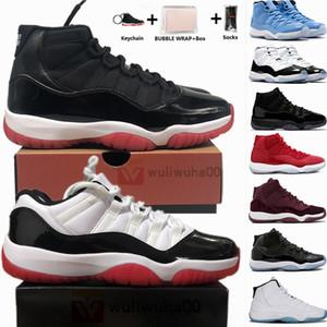Baja blanca gris Jordan 11 zapatos de baloncesto del Mens Grandes Negro Pantone gato con la caja de 11s Concord 45 Leyenda Azul Piel de serpiente Retros las zapatillas de deporte