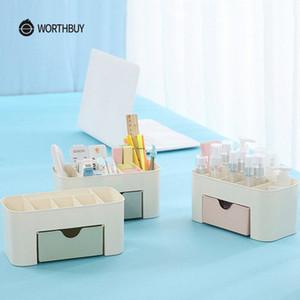 WORTHBUY multifunzionale trucco dell'organizzatore scatola di plastica trucco Scrivania organizzatore per Cosmetici Box Bagno contenitore di immagazzinaggio DlYr #