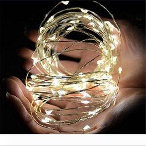 3M 30LEDs Pil Led dize Mini LED Bakır Tel String Peri Işık Noel Yılbaşı Ev Partisi Dekorasyon Işık Sıcak Saf Beyaz İşletilen