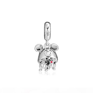 2019 Spring 925 Sterling Silver Jewelry Baby Rabbit Charm Beads Fits designer Bracelets Necklace For Women DIY Making