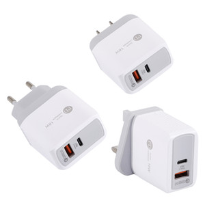 Universal USB PD 18W USB PD Charge rapide QC 3.0 pour iPhone UE US Plug Chargeur rapide pour Samsung S10 Huawei