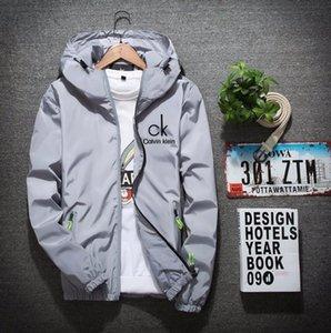 Mens Designer Hooded Jackets Windbreaker Sportswear New Spring Autumn Casual Jacket Clothing Zipper Collar Printed Slim Jacket M-6XL