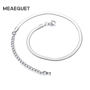 No Fade Snake Chain Necklace Italian Silver Color Charm Dainty Valentine Necklace Gift For Her 4mm Width