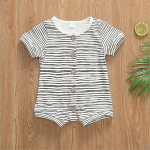 Clothing Designer Clothes Boys Striped One-Piece Rompers Baby Camo Vest Climb Boutique Solid Bodysuits Onesies Jumpsuits Pants Kids B76 Fkeh