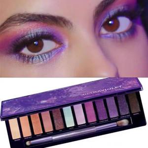 Marca 12 colores paleta de sombra de ojos brillo mate sombra de ojos maquillaje de belleza 12 colores de sombra de ojos paleta de HOT