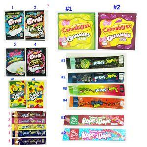 420 Flav Dank Gummies Chuckles Medibles nerds CORDA infundido Doce Embalagem Saco 710 Edibles Embalagem Mylar Bag Cheiro Package prova para Candy