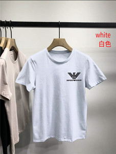 mens designer t shirts American Fashion T-shirt Mens Fitness Casual Round Neck Printing Black and White T Shirt Hot Arma̹ni