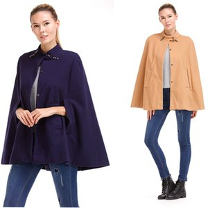 Women's Coat Wool Blends Autumn Winter Cloak Fashion Casual Stand Collar Trench Coat Ladies Outerwear