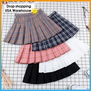 Mini-jupe plissée rose plissée Slim Satin Mode Jupe Femmes taille Casual école de tennis Jupes vacances Femme été Nouveau