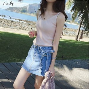 Sexy New Women Plain Camisole Double V Neck Vest Slim Sling Short Tank Tops Drop Shipping Good Quality