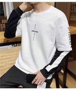 Mode Hommes Harajuku Contraste O Designer Couleur Hoodies Lettres cou Sweatshirts hommes Vêtements manches longues