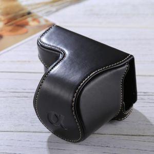 Полное Тело камеры PU кожаный чехол сумка с ремешком для Sony A5100 / A5000 / NEX-3N