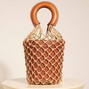 Женщины Чистой сумка Ковш сумка Мода выдесть Кожа Tote Summer Travel Beach Bag Женщины рука Топ-ручка сумка