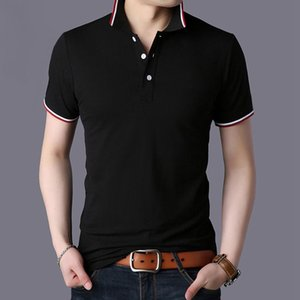 Mode Hommes Polos Chemise 2020 Hot Summer Vente Slim Fit Hommes Polos Business Casual 95% coton New manches courtes Chemises