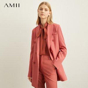 Amii Spring Minimal Western Style Верхняя одежда Брюки Шорты Профессиональная куртка женщин Новая осень костюм отдыха 11940584